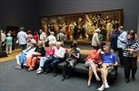 Bezoekers in het Rijksmuseum - Beeld: Nationale Beeldbank